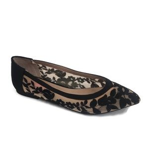 Betsey Johnson Charlote Lace Flats 6 shoes pointed